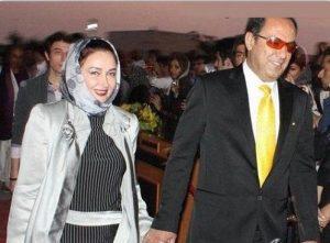 کتایون ریاحی و فرشید رحیمیان در یک مراسم رسمی دست در دست هم