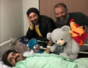 عیادت بازیگران از امیر نوری در بیمارستان