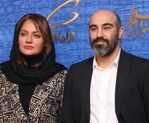 مهناز افشار در کنار محسن تنابنده با مانتوی سفید مشکی