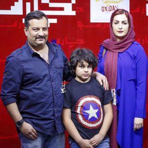 مهراب قاسمخانی و شقایق دهقان و پسرشان در اکران فیلم اکسیدان