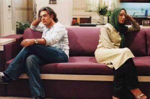 مهناز افشار و محمدرضا گلزار در فیلم آتش بس