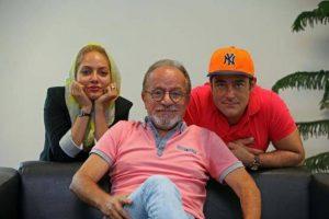 مهناز افشار و محمدرضا گلزار در کنار کارگردان عشق تعطیل نیست