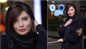 نگار فروزنده با تیپ مشکی