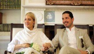 مهناز افشار و همسرش یاسین رامین در مراسم عقدشان