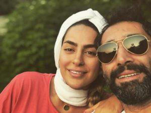 سمانه پاکدل بدون آرایش در کنار همسرش