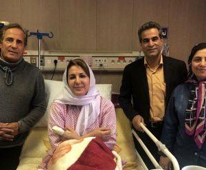 عیادت بازیگران از فاطمه گودرزی در بیمارستان