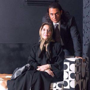 محمدرضا گلزار و مادرش