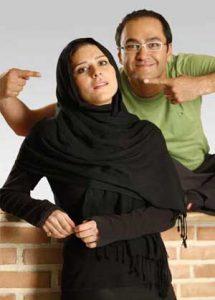عکس دونفره رامبد جوان در حال اشاره کردن به سحر دولتشاهی