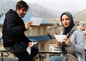 مهناز افشار و محمدرضا گلزار در نمایی از فیلم کلاغ پر