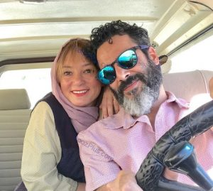 سحر ولدبیگی بدون آرایش در کنار همسرش