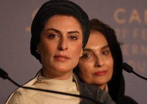 بهناز جعفری با لباس طوسی کرمی در جشنواره فیلم کن2018