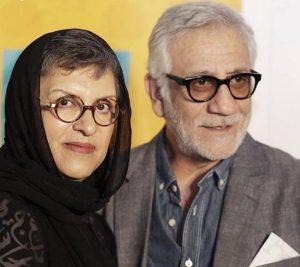تیپ مشکی رویا تیموریان در کنار مسعود رایگان با کت طوسی