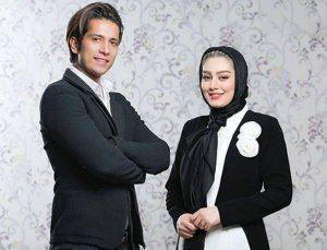 تیپ مشکی سفید سحر قریشی در کنار همسر سابقش