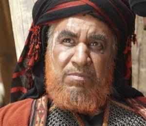 محمد فیلی در نقش شمر بن ذی الجوشن با ریش قرمز و گریم مختارنامه
