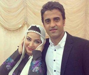 تیپ مهمانی فقیهه سلطانی در کنار همسرش جلال امیدیان