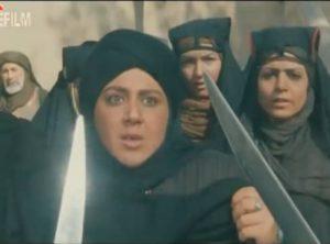 شهره لرستانی در نقش زنان قبیله حمدان سنگ زنندگان به عمر سعد با زنان عرب