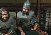 شهزاد صفوی در نقش عبدالله بن مالک اشتر نخعی با کلاه خود و لباس رزم