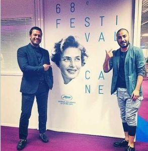 تیپ رسمی پژمان بازغی در کنار لباس عجیب نوید محمدزاده در جشنواره فیلم کن2015