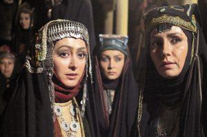 فریبا کوثری در نقش عمره بنت نعمان و الهام حمیدی در مختار نامه