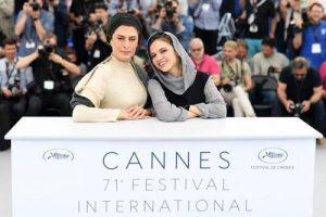 بهناز جعفری و مرضیه رضایی در جشنواره ی فیلم کن