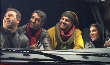 تصویر از کامیون سواری «ویشکا آسایش» درکنار آقایون بازیگر + عکس