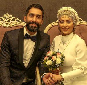 سمانه پاکدل و همسرش هادی کاظمی در روز عروسیشان