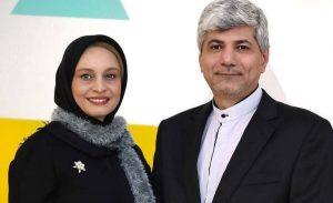 تیپ مشکی مریم کاویانی و همسرش رامین مهمانپرست