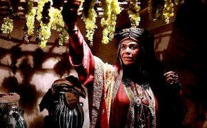 گوهر خیراندیش در نقش حنانه خاله جاریه در حال چیدن انگور