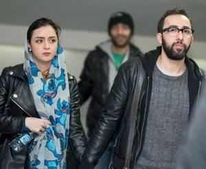تیپ چرم ترانه علیدوستی و همسرش علی منصوری