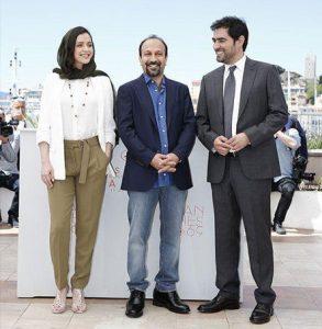 تیپ رسمی ترانه علیدوستی و اصغر فرهادی و شهاب حسینی در جشنواره کن