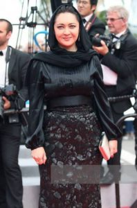 تیپ مشکی نیکی کریمی در جشنواره فیلم کن
