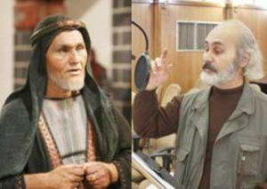 عباس وفایی در نقش خادم عبدالله بن زبیر قبل گریم و بعد گریم