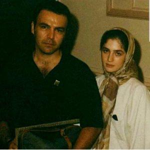 عکس قدیمی مرحوم عسل بدیعی در کنار همسر سابقش فریبرز عربنیا