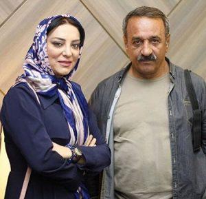 تیپ آبی حميرا رياضي در کنار علي اوسيوند