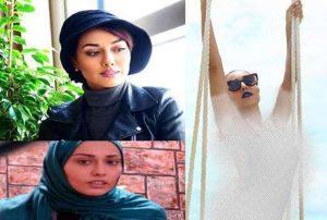 عکس بی حجاب صدف طاهریان و عکس با حجابش با کلاه و شال