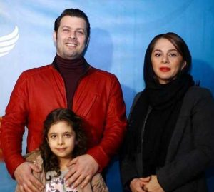 تیپ مشکی مستانه مهاجر و همسرش پژمان بازغی با کت چرم قرمز