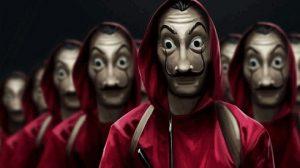بازیگران فیلم Money Heist با ماسک های معروفشان