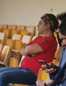 رامین راستاد با تیپ قرمز در استادیوم اهواز