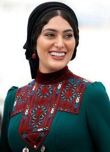 لباس سنتی سبز رنگ سودابه بیضایی در جشنواره فیلم کن ۲۰۱۷
