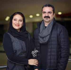 تیپ مشکی شبنم مقدمی و همسرش علیرضا آرا