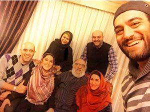 عکس سلفی امیریل ارجمند از خانواده ی هنرمندش