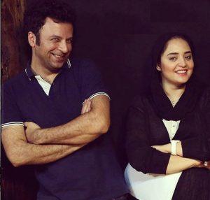 حسام منظور در کنار نرگس محمدی