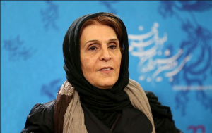 تیپ مشکی آهو خرمند در جشنواره فجر