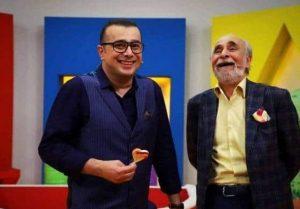 سعید و سپند امیرسلیمانی در کنار هم در یک برنامه در حال خندیدن