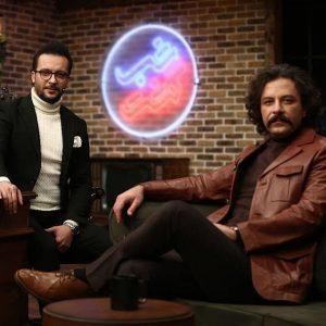 تیپ چرم قهوه ای حسام منظور در برنامه شب گشت از شبکه ی دو