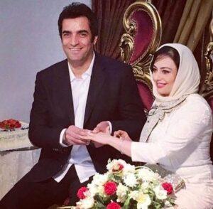یکتا ناصر در کنار همسرش در روز عقدشان