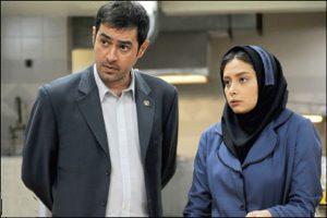 دیبا زاهدی و شهاب حسینی در صحنه ای از فیلم پنج ستاره