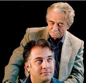 عکس آتلیه ای منوچهرنوذری با کت طوسی در کنار ایرج نوذری
