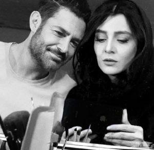 عکس سیاه و سفید محمدرضا گلزار و ساره بیات
