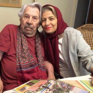 تیپ قرمز داوود رشیدی و همسرش احترام برومند